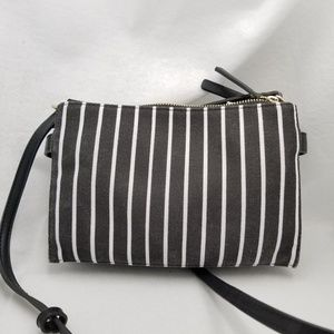 French Connection Black White Crossbody Purse